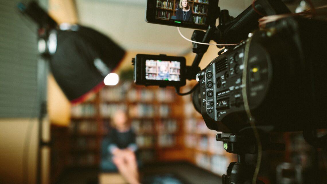 Kamera bei der Filmaufnahme